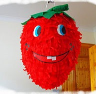 strawberry-pinata